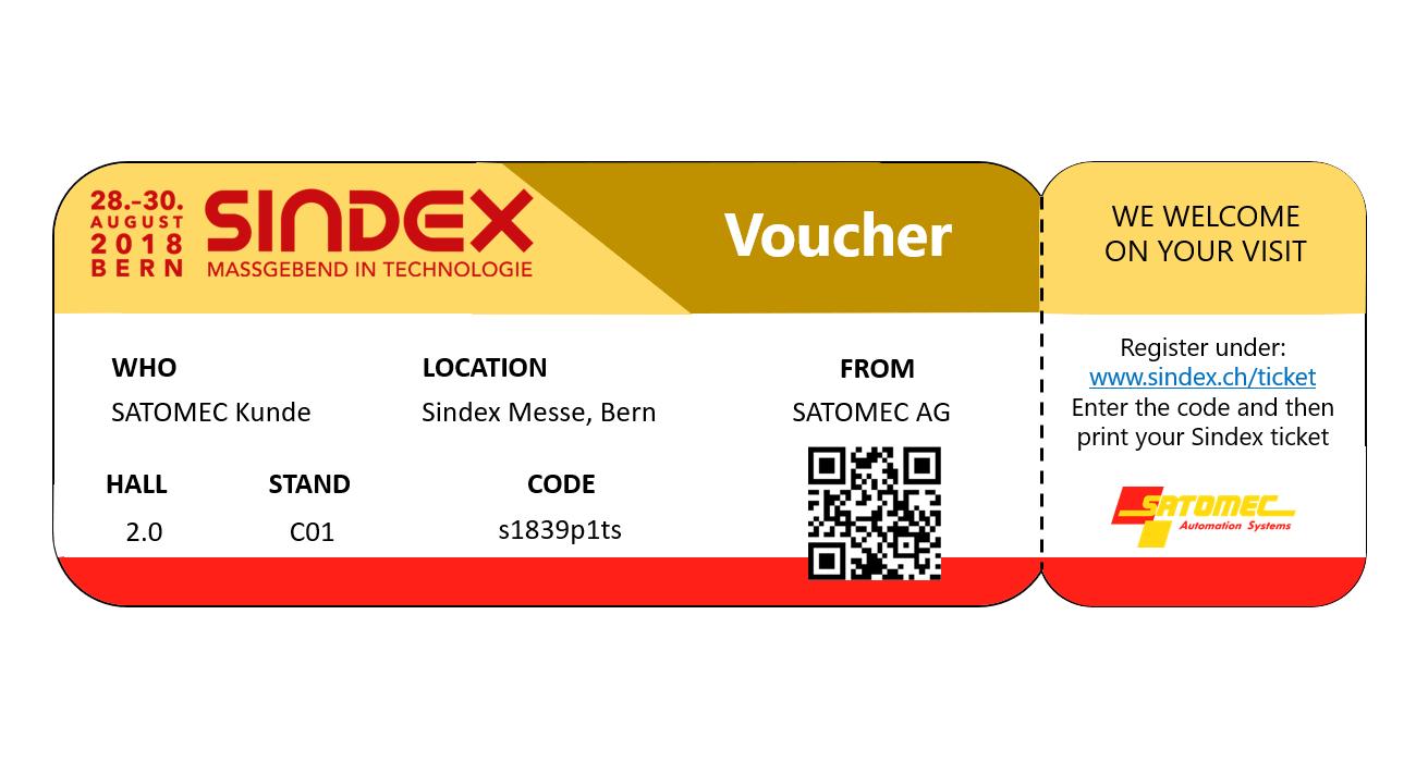 Besuchen Sie uns @ Sindex 2018 Bern
